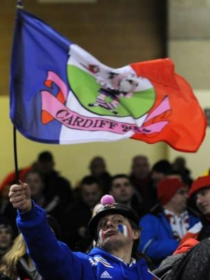 French fans had travelled in large numbers for the fixture and entered into the party spirit in the stadium and the city
