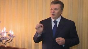 Ukrainian President Viktor Yanukovych TV address (22 Feb 2014)