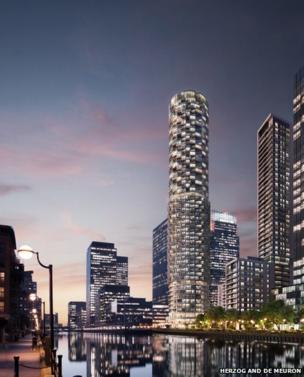 One Wood Wharf concept design