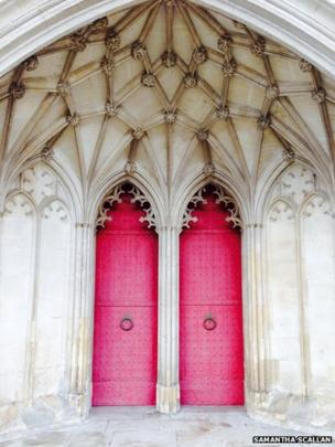 Doors to Winchester Cathedral