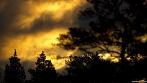 Fiery sunrise taken in Cairngorms National Park