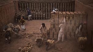 Pakistani brick factory