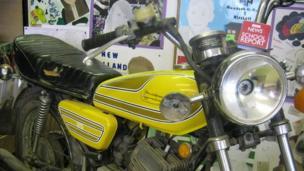 BBC mic cube and motorbike