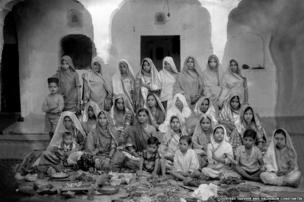 A group of women in Rajasthan in 1920