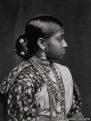 Portrait of an Indian woman, 1880