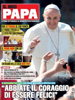 The front cover of a new magazine in Italy called Il Mio Papa - or My Pope