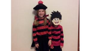 Jasmine and Jack are dressed up as Dennis the Menace
