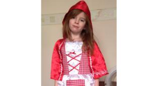 Molly dressed as Little Red Riding Hood