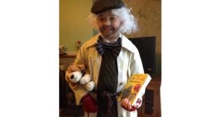 Christopher dressed as Mr Stink