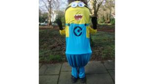 Paul dressed as a minion