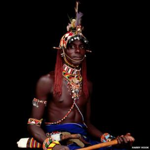 A Samburu warrior prior to his Lenkarna Lemuget – the ceremony at which he will become an elder