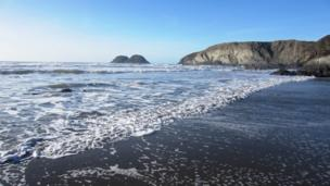 Traethllyfn beach near Porthgain, Pembrokeshire captured on a warm sunny March afternoon by Dawn Gibbons who lives locally