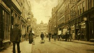 Broad Street, Worcester, in about 1910