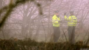 A small wooded area is cordoned off close to the A146