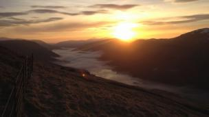 Sunrise over Loch Voil and Stob Binnein