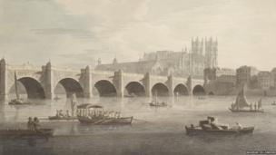 Joseph Farrington, View of Westminster Bridge from the South East, 1789