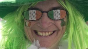 Person celebrating St Patrick's Day