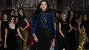 L'Wren Scott at her Fall/Winter 2012 collection during New York Fashion Week in February, 2012