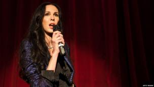 L'Wren Scott speaks during Glamour Live at The Box on 5 September 2012 in New York City.