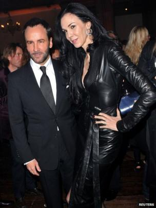 Designer Tom Ford and L'Wren Scott attend a Celebration of 10 Years of IHT Luxury Conferences during the International Herald Tribune Heritage Luxury Conference at One Mayfair in November 2010 in London, England.