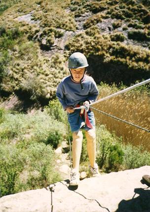 Oscar Pistorius as a child