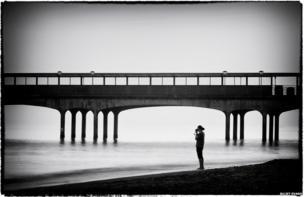 Photographer on the beach