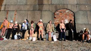 Sunbathing in St Petersburg