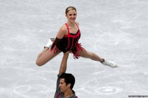 Ice dancers Paige Lawrence and Rudi Swiegers