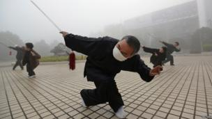 People take part in morning exercise in China
