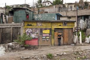 Muralist Alonso Delgadillo in Tijuana, Baja California, Mexico
