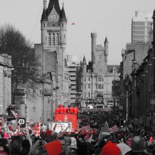 Aberdeen FC cup parade