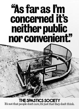 spastics society poster