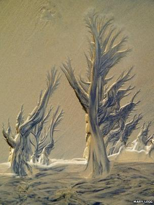 Peat Paintings by Mary Legg