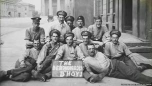 The Bermondsey B'hoys from the 2nd Grenadier Guards inside their base at Wellington Barracks sometime during 1914 or 1915