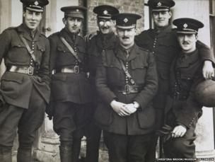 Jack Kipling with fellow officers