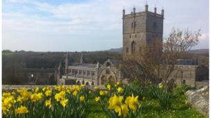 Matthew Addison from Penclawdd, Gower, sent in this photo of St Davids Cathedral in Pembrokeshire