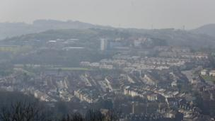 Houses in Kent covered by smog