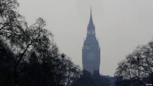 Big Ben in smog