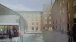Artist's impression of the site