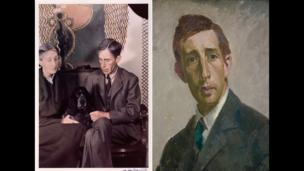 Virginia and Leonard Woolf by Gisele Freund, 1939. Leonard Woolf by Henry Lamb, 1912