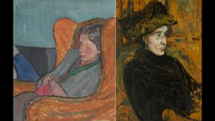 Virginia Woolf in an Armchair by Vanessa Bell. Virginia Woolf, oil on canvas by Duncan Grant