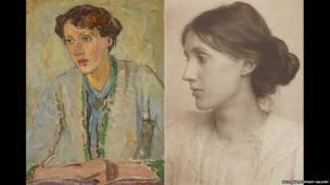 Virginia Woolf by Vanessa Bell. Virginia Stephen by George Charles Beresford, July 1902