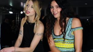 Peaches Geldof and Eliza Doolittle