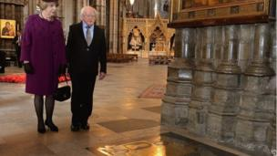 Michael D Higgins and his wife Sabina