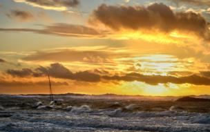 Iwan Williams from Llanrug took this photo at Rhosneigr on Anglesey