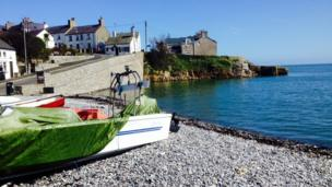 Carole Lynes's springtime view of Moelfre on Anglesey