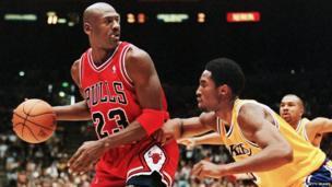 Michael Jordan playing basketball