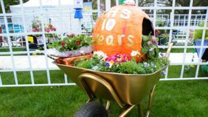 floral fairy tale theme wheel barrow