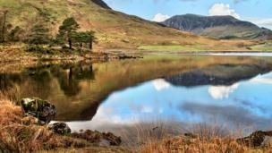 Llyn y Gader in Snowdonia