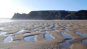 Three Cliffs Bay, Gower,